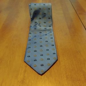 346 Brooks Brothers tie Blue/Black /Gold
